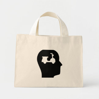 Thinking About Scooters Mini Tote Bag