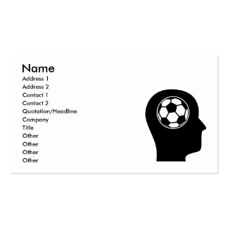 Thinking About Soccer Business Card Template