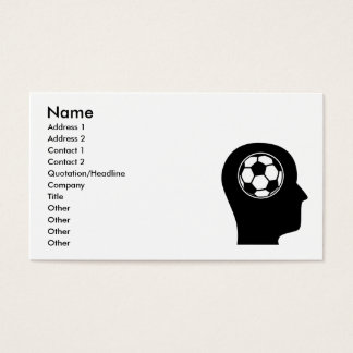 Thinking About Soccer Business Card