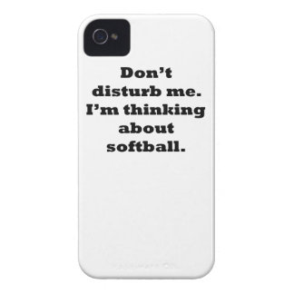 Thinking About Softball iPhone 4 Case-Mate Case