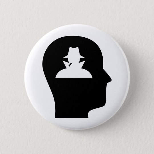 Thinking About Spying 6 Cm Round Badge