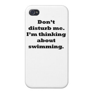 Thinking About Swimming iPhone 4/4S Cover