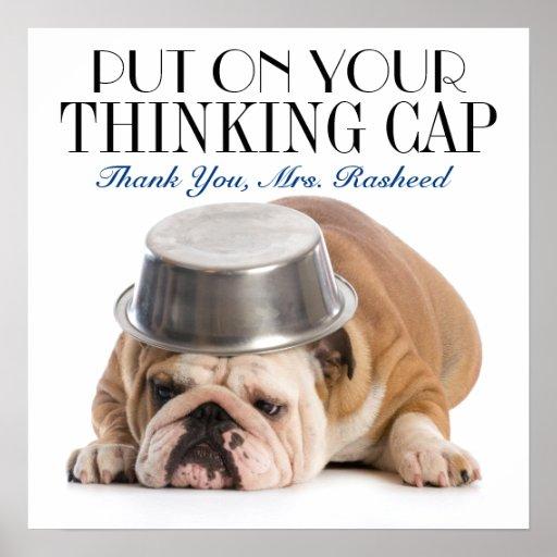 Thinking Cap School Humour Poster
