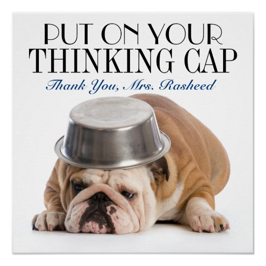 Thinking Cap School Humour Poster