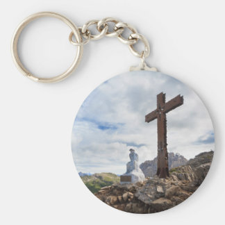Thinking Christ - Castellazzo mount, Italy Key Ring