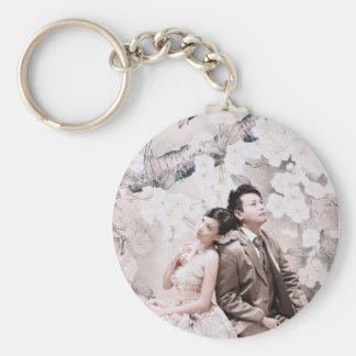 thinking couple key ring