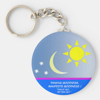Thinking Goodness, Manifests Goodness Basic Round Button Key Ring