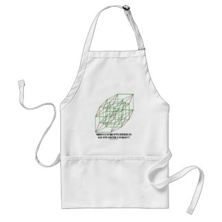 Thinking In Fifth Dimension Can Give A Headache Standard Apron