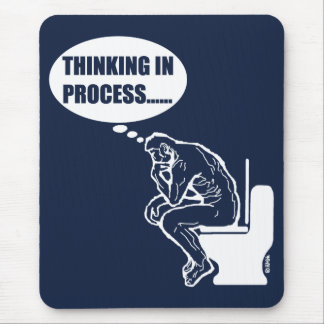 Thinking in process mouse mat