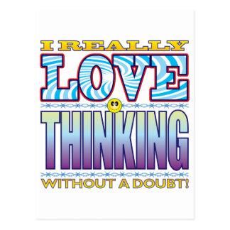 Thinking Love Face Postcard