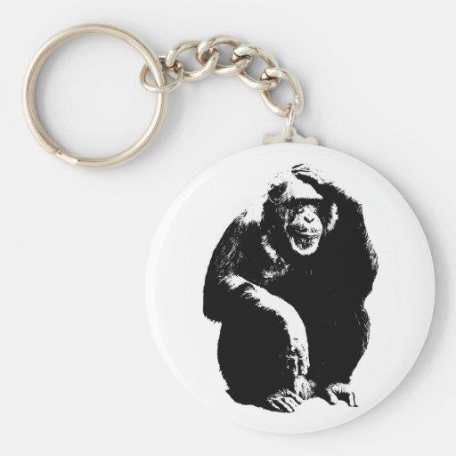 Thinking Monkey Keychains