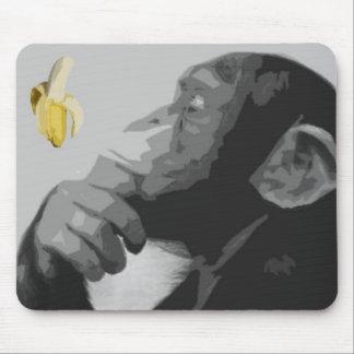 Thinking Monkey Mouse Mat