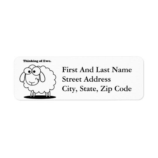 Thinking of Ewe Lamb Sheep Cute Cartoon