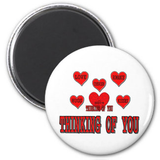 Thinking Of You 6 Cm Round Magnet