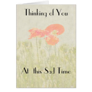 THINKING OF YOU AT THIS SAD TIME GREETING CARD