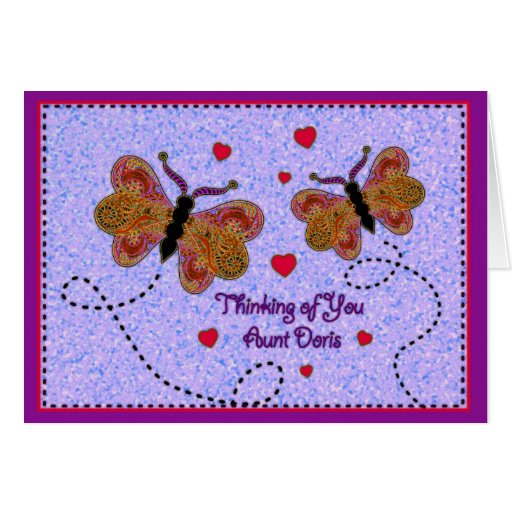Thinking of You Aunt Doris Greeting Cards