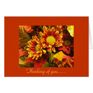 Thinking of you, autumn design greeting card
