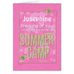 Thinking of You Away at Summer Camp Custom Name Greeting Card