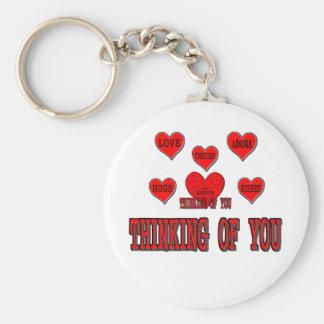Thinking of You Basic Round Button Key Ring