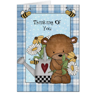 Thinking Of You Bear Greeting card