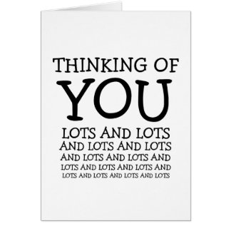 Thinking of you, cancer or get well customizable greeting card