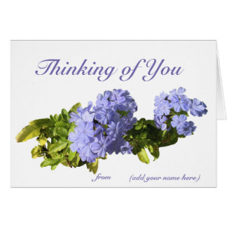 """""""Thinking of You"""" card with your name on it."""