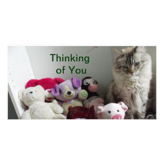 thinking of you cards customised photo card