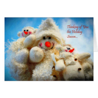 Thinking of You Christmas Snowman Note Card