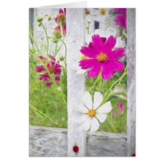 thinking of you-cosmos flower garden card