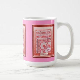 Thinking of you, Delicate pink Basic White Mug