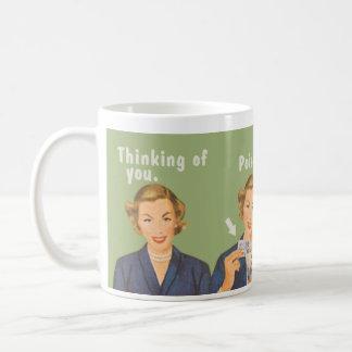 Thinking of you, drinking poison. basic white mug