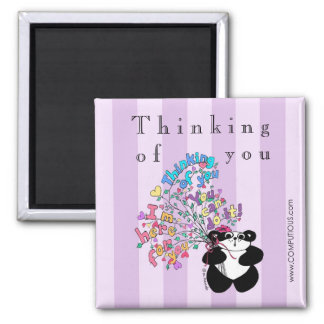 Thinking of you - Encouragement Square Magnet