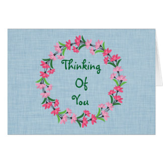 Thinking of You Floral Wreath Note Card