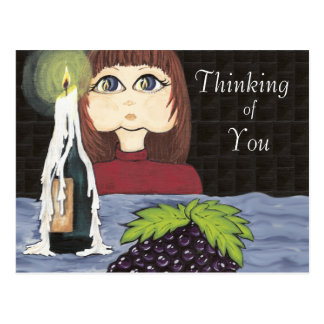 Thinking of You Focus Candle Work Cutie Postcard