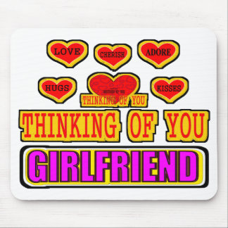 Thinking Of You Girlfriend Mouse Pad