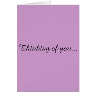 Thinking of You Greeting Card. Card