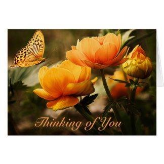 Thinking of You Greeting Card w/ Blank Inside