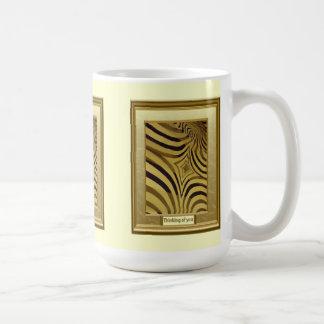 Thinking of you, Herd of Zebra Basic White Mug
