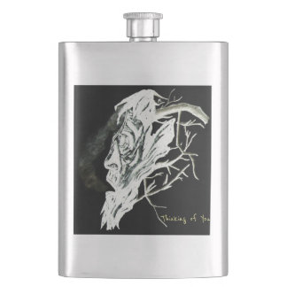 Thinking of you hip flask