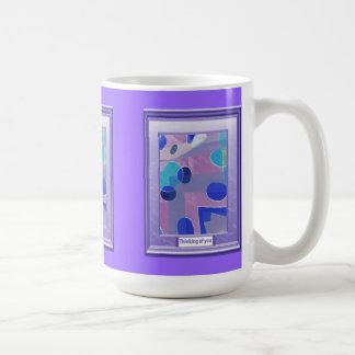 Thinking of you, Lilac eggs Basic White Mug