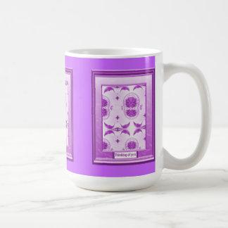 Thinking of you, Lilac moons Basic White Mug