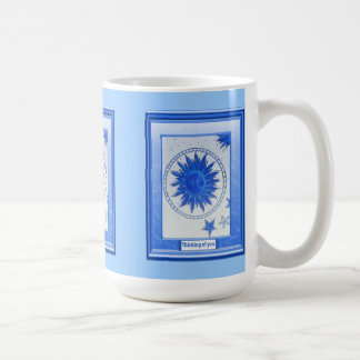 Thinking of you, Man in the moon Coffee Mugs