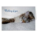 Thinking of you notecard (blank) note card