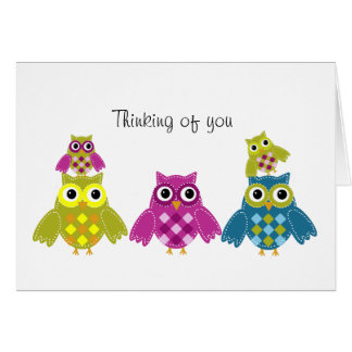 Thinking of you Owl Card