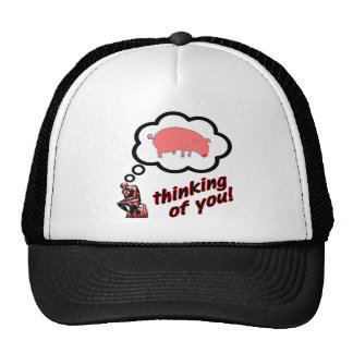 Thinking of You Pig Mesh Hat