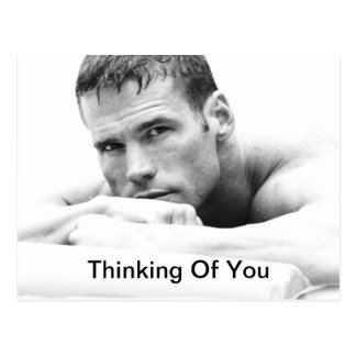 Thinking Of You Postcard - Male Hunk