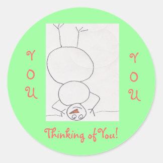 Thinking of You!, Round Sticker