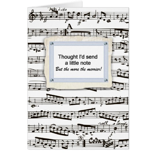 Thinking of you & sending a musical note