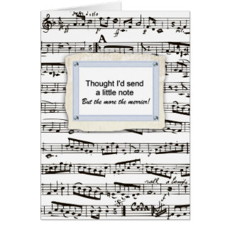Thinking of you & sending a musical note or two greeting card