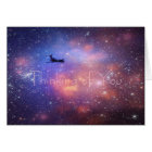 Thinking of you Space Aeroplane Note Card